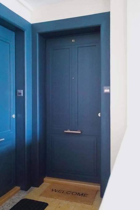 Porte palière Attastop+ EI30 phonique avec panneau rapporté (bâtiment classé)